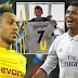 African player of the year Pierre-Emerick Aubameyang thanks Cristiano Ronaldo for making his son's day