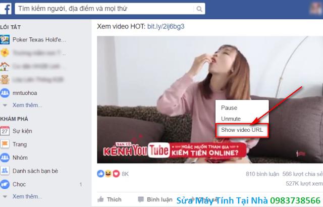 Hướng dẫn tải Video trên facebook