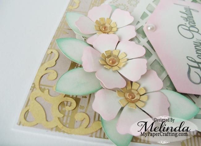 Paper Flowers Birthday Card SVG Cut Files Melinda Beltran