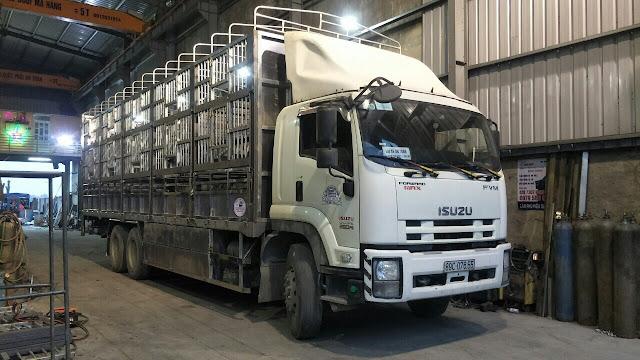 Đóng thùng inox xe tải