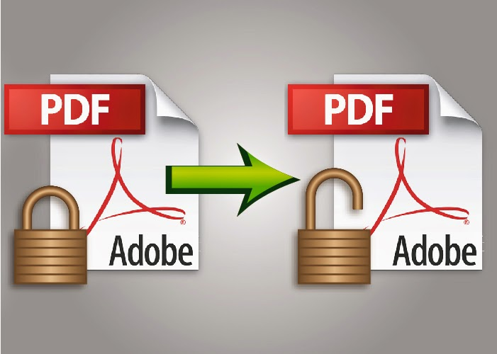 Unlock Protected PDF File & To Secure Lock PDF File - Vector