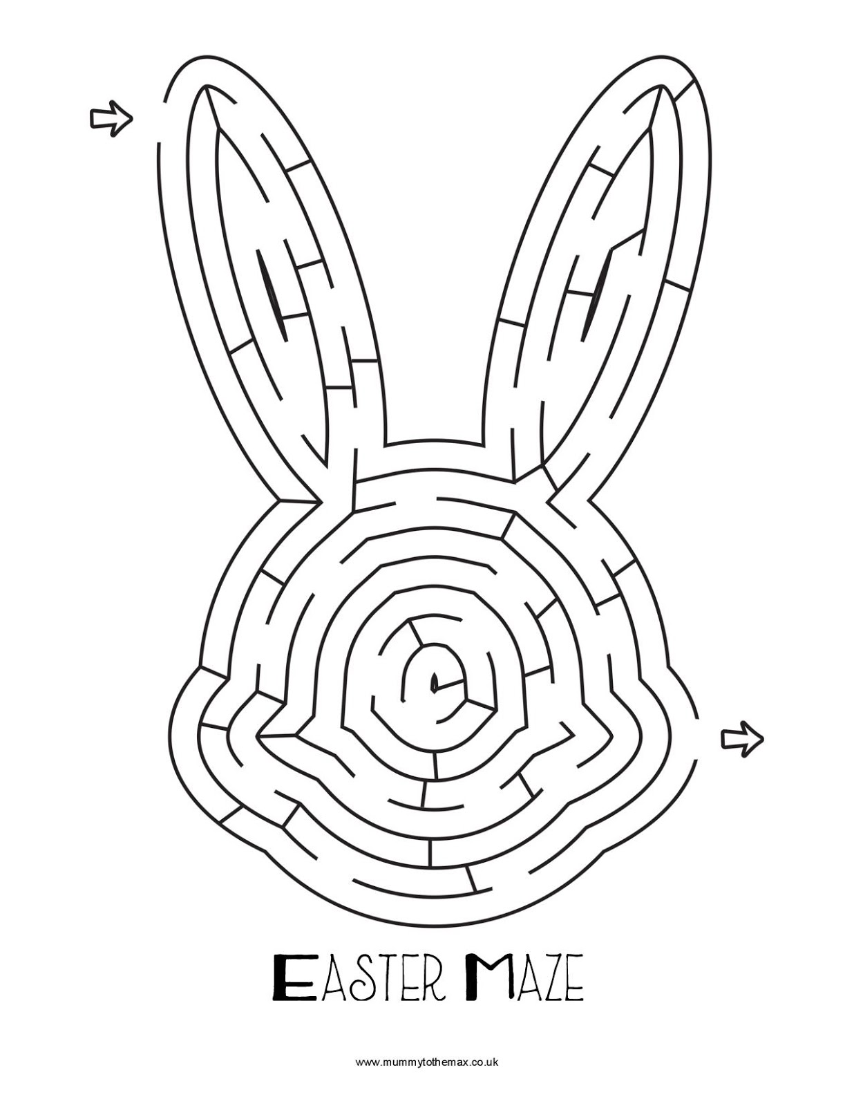 graphic relating to Easter Maze Printable called Easter Maze Absolutely free Printable - MUMMY Towards THE MAX