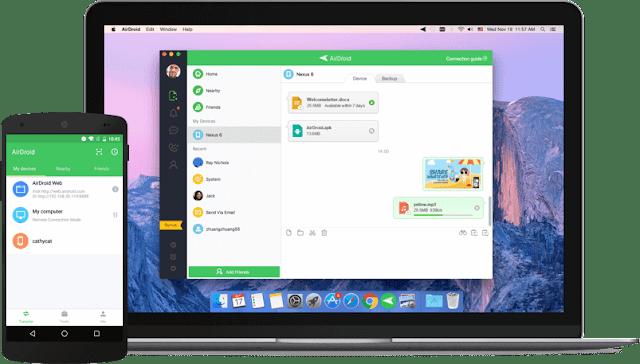Cara Mudah Transfer Kirim File Data Android ke MAC