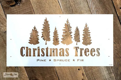 Old sign stencils tree stencil