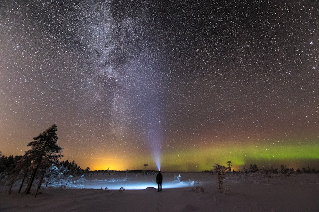 Aurora borealis, night sky, milky way, nature, amazing, landscape, northern lights, weather phenomena