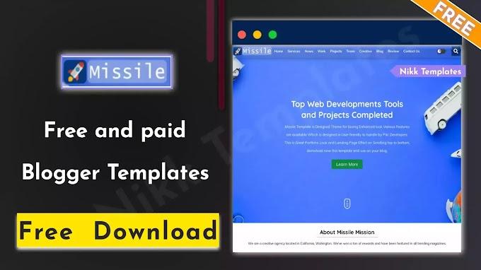 Missile - Portfolio & Responsive Blogger Template