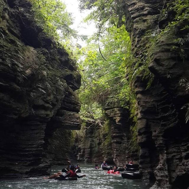 foto santirah river tubing pangandaran