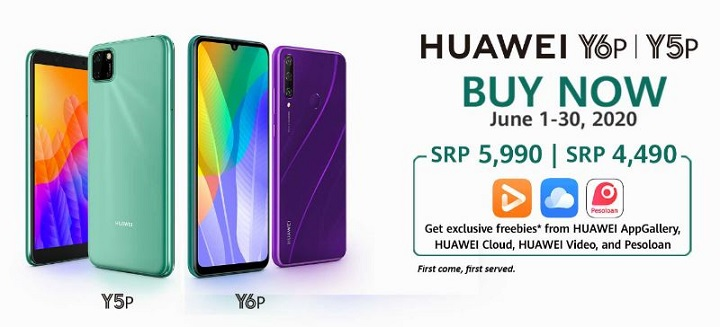 Huawei Y6p, Y5p, MatePad T Availability Philippines