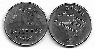 10 cruzeiros, 1981