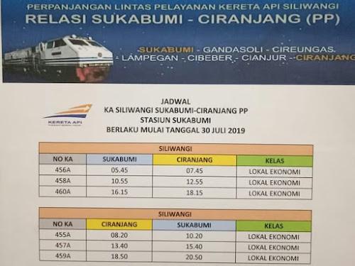 Jadwal Kereta Api Sukabumi - Ciranjang