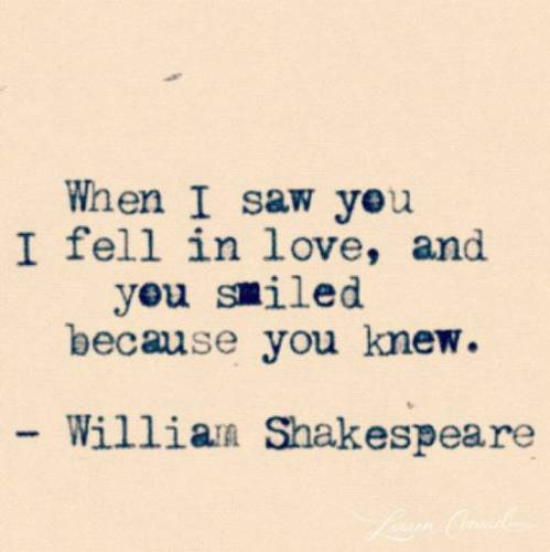 Shakespeare Love Quotes For Her: First Sight Love Quotes Funny