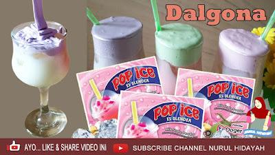 Resep Dan Langkah Gambar Lengkap Minuman Dalgona Pop Ice, Minuman Viral yang Dikombinasikan Dengan Pop Ice