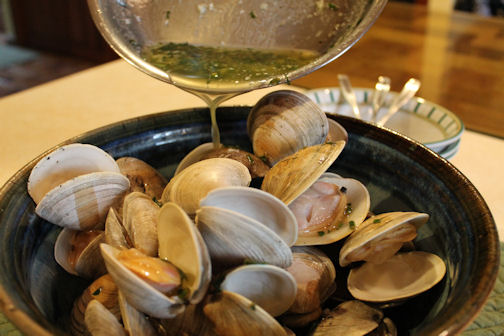 The Grilled Clams in a Bowl.