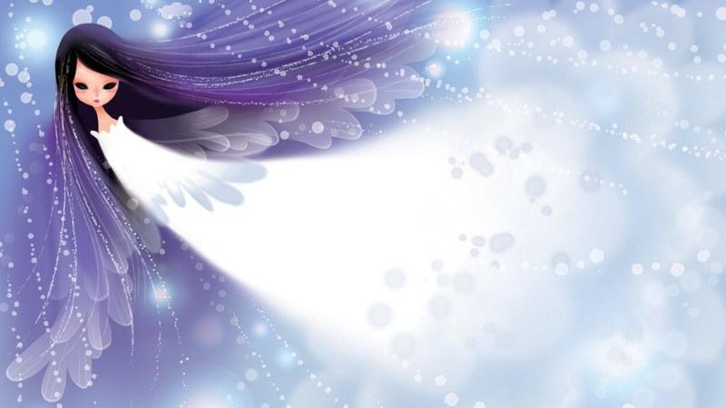 kristály angyal