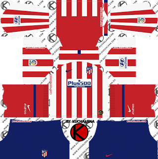 Atletico Madrid 2019/2020 Kit - Dream League Soccer Kits