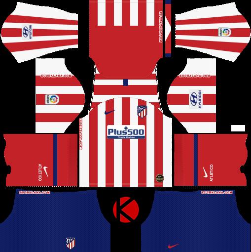 Atletico Madrid 2019/2020 Kit - Dream League Soccer Kits
