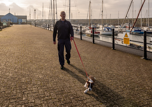 Photo of Ruby leaving the marina yesterday (Thursday) for her first proper walk