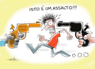 Resultado de imagem para imagem ilustrativa de assaltos