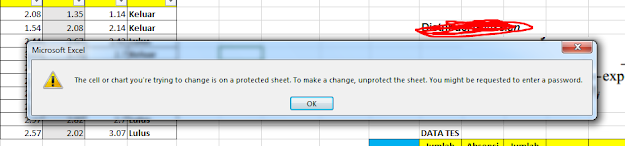 Sheet Excel terkunci