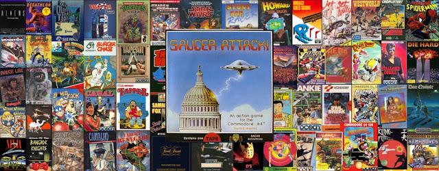Saucer Attack Commodore 64