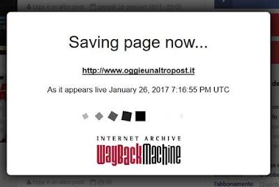 Forzare aggiornamento di un sito su Web Archive