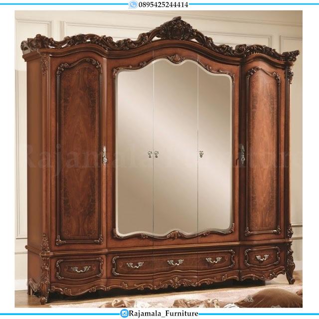 Lemari Pakaian Mewah Kayu Jati Pintu 6 Luxury Design Classic RM-0329