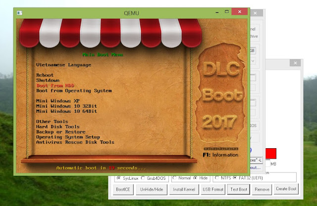 Test Boot Qemu- Cara Buat DLC boot 2017 ke Flashdisk