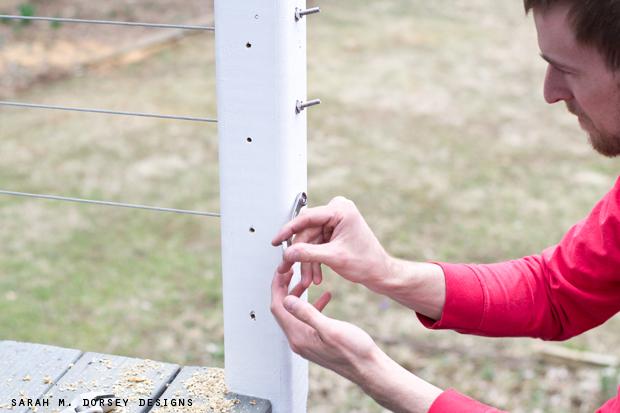 sarah m. dorsey designs: DIY Wire Railing   Tutorial