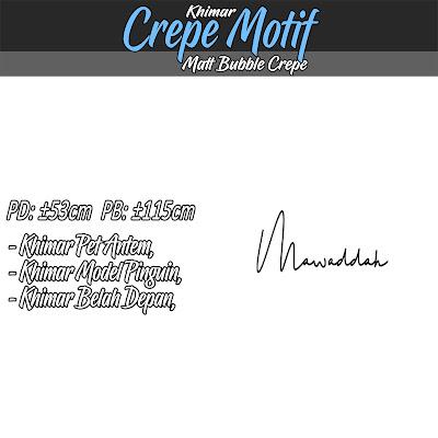 Khimar crepe motif model pet antem harga murah berkualitas