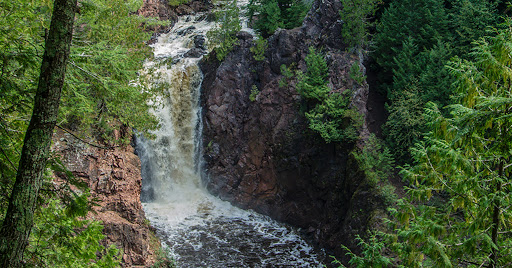 Brownstone Falls along the North Country Trail