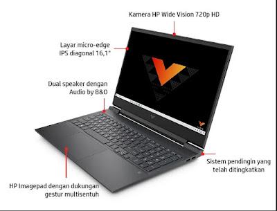 spek laptop gaming victus by hp