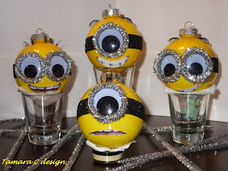 Tamara C Design Minion Ornaments