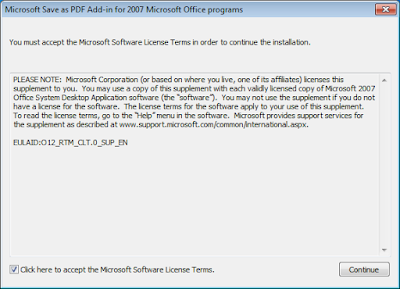 Microsoft Save AS PDF Office 2007