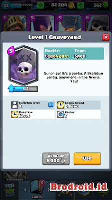 Graveyard Kartu Legendary Clash Royale