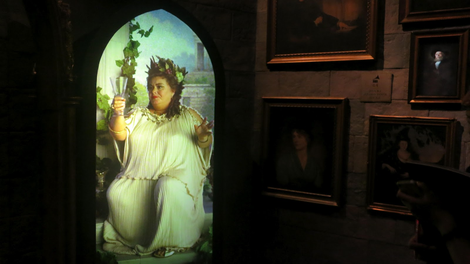 harry potter casts his spells on the artscience museum singapore