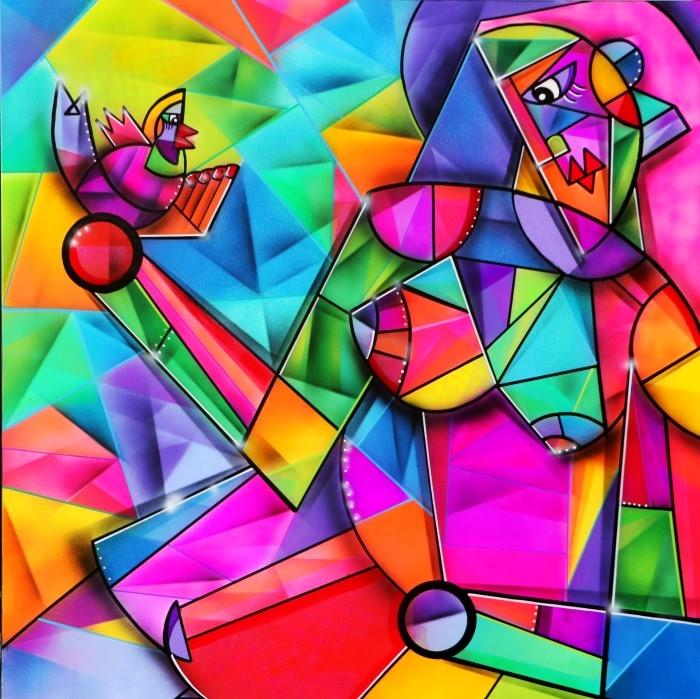 Красочные и геометрические полотна.