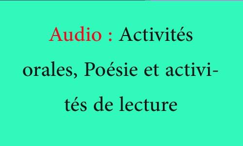 الثالث والرابع بالصوت toutes les pistes audio 4aep et 3aep Activités orales et Poésie