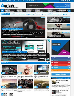 Apriezt Adsense Responsive Blogger Templates Without Footer Credit