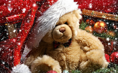 christmas-teddy-bear wallpaper