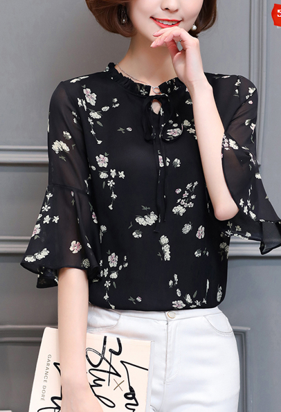 https://www.fashionmia.com/Products/tie-collar-floral-bell-sleeve-blouse-184592.html