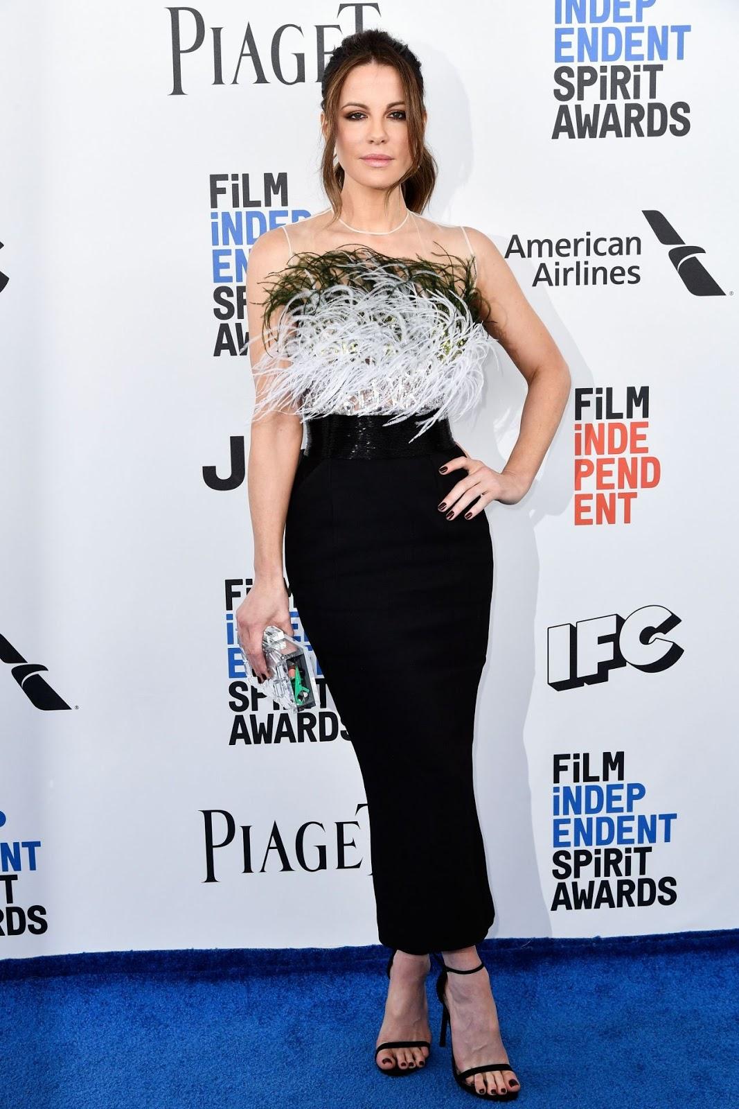 Kate Beckinsale is effortlessly chic at the 2017 Independent Spirit Awards