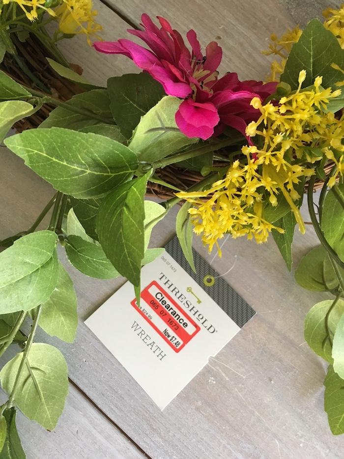clearance bargain wholesale cheap spring wreath