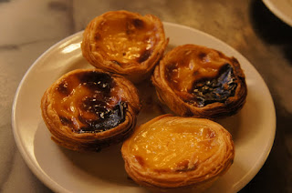 Pastel de nata at Confeitaria Nacional - very sweet and the Portuguese like theirs a little charred