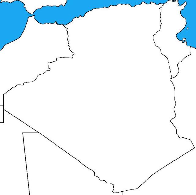Algeria blank map