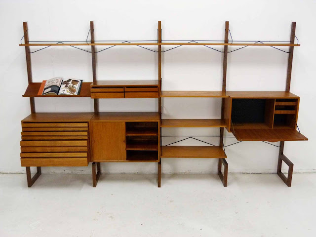 Poul Cadovius for Cado Free Standing Danish ModernTeak Wall Unit 2