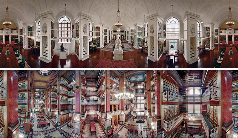 The Library Book, Kreasi Foto Panorama 360° yang Mewah oleh Thomas R. Schiff