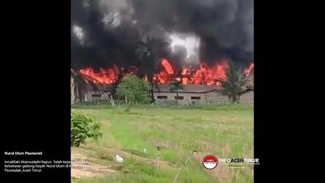 Kondisi Terkini Kebakaran Nurul Ulum Peurelak
