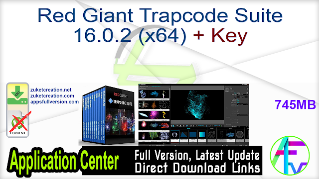 Red Giant Trapcode Suite 16.0.2 (x64) + Key