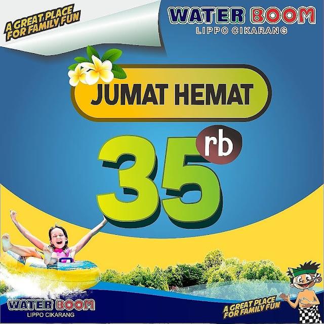 #WaterBoomLippoCikarang - #Promo Jumat Hemat Tiket Hanya 35K