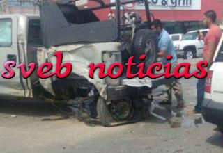 VIDEO Vuelca camioneta de marinos tras persecucion en Rio Bravo Tamaulipas